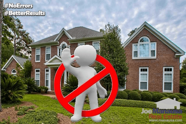 Here is a list of common listing agent marketing errors that end up costing home sellers tens of thousands of dollars or more.
