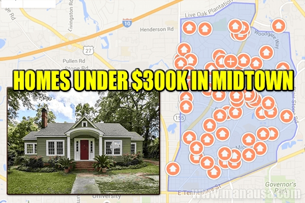 SHOCKING: 33 Homes For Sale UNDER $300K in Midtown Tallahassee