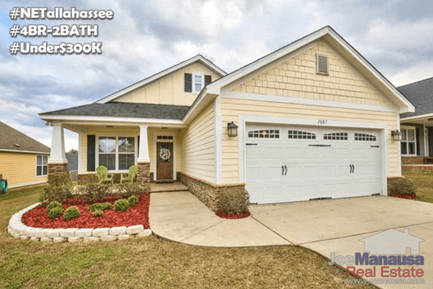 All 4/2 Homes For Sale In Northeast Tallahassee Under $300,000