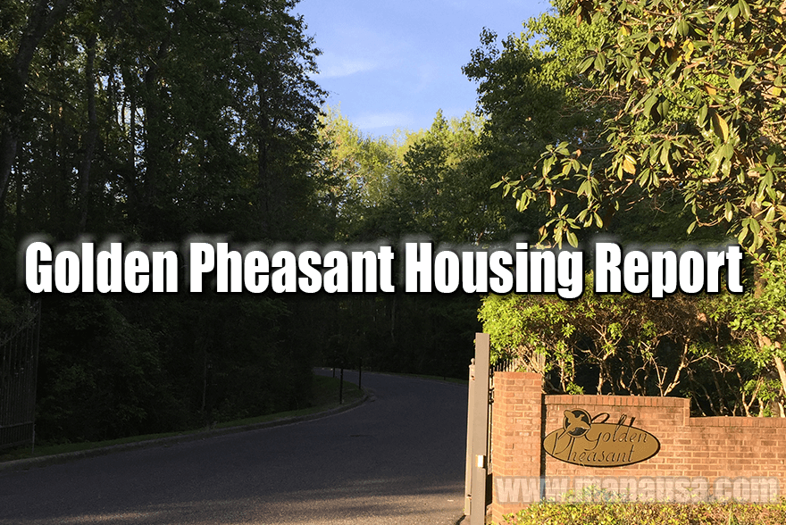 Golden Pheasant Home Sales Report For April 2016