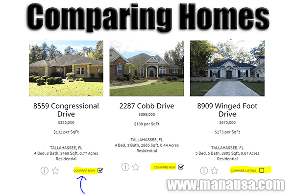 Side By Side Home Comparisons