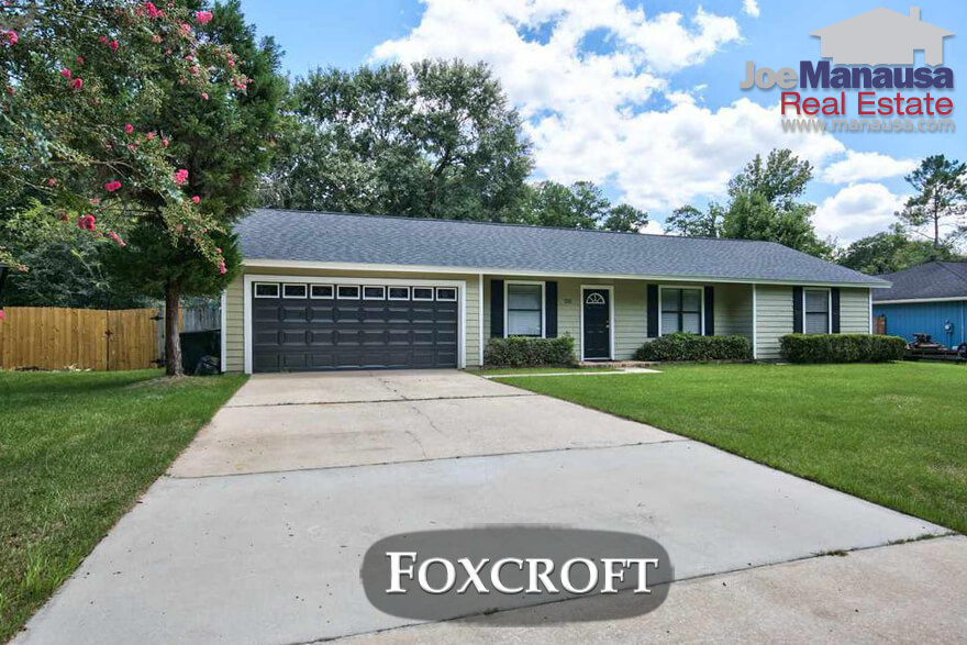 Foxcroft Tallahassee Florida Home Prices