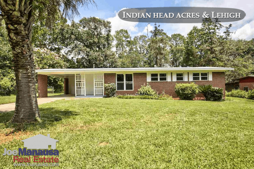Indian Head Acres and LehighTallahassee, Florida Home Prices