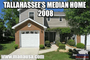 The median home in Tallahassee in 2008