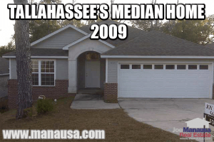 The median home in Tallahassee in 2009