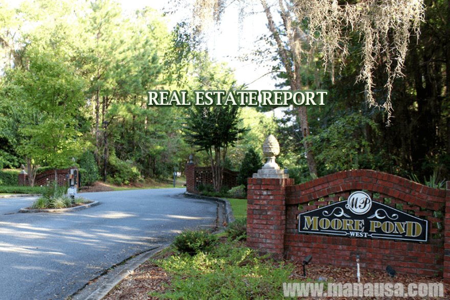 Moore Pond Listings and Home Sales Report