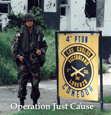Joe Manausa in the Republic Of Panama During Operation Just Cause in 1989
