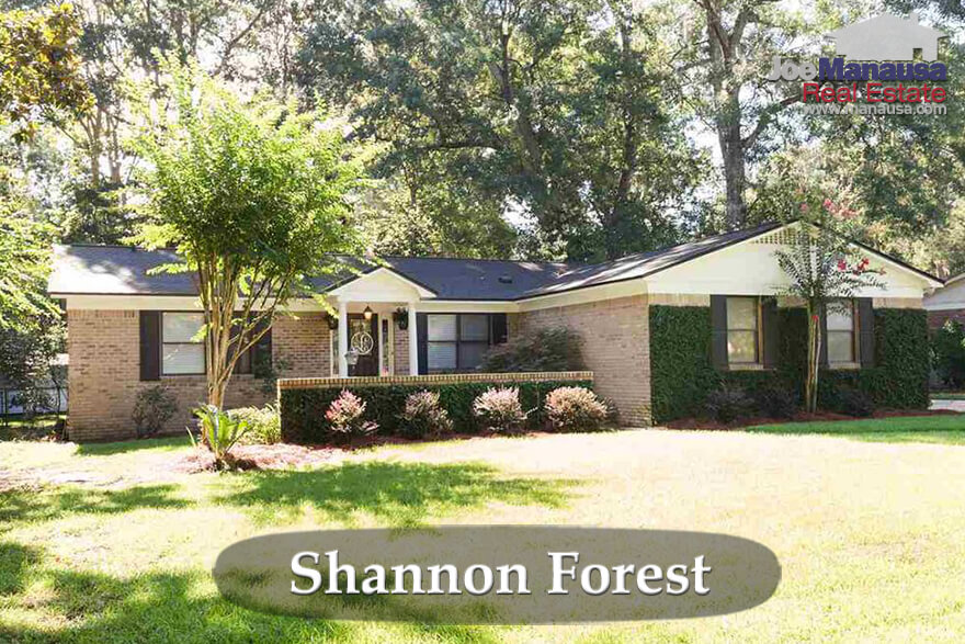 Shannon Forest Tallahassee Home Prices