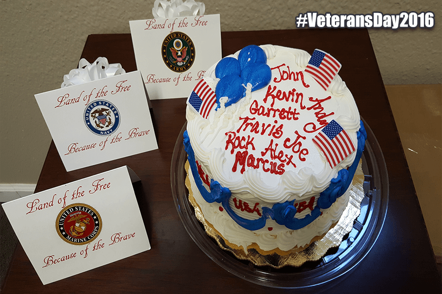 Happy Veterans Day Tallahassee - A cake to celebrate this important holiday