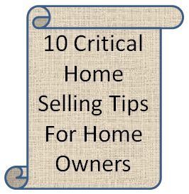 10 Critical Home Selling Steps