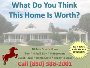 Horse Homes With Acreage Joe Manausa Real Estate 1140 Capital Circle SE #12A Tallahassee, FL 32301 (850) 366-8917 www.manausa.com