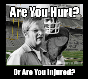 Hurt or Injured - Jim Young Football Coach