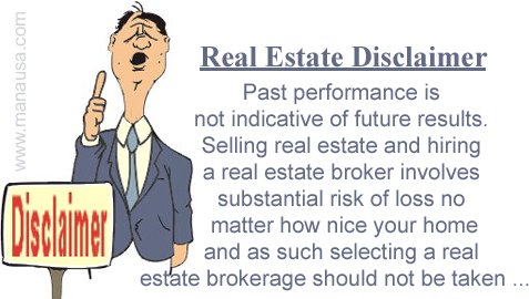 Real Estate Disclaimer Image