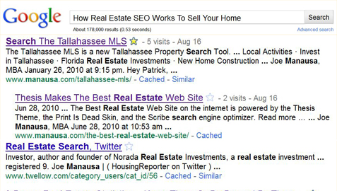 Real Estate SEO Results