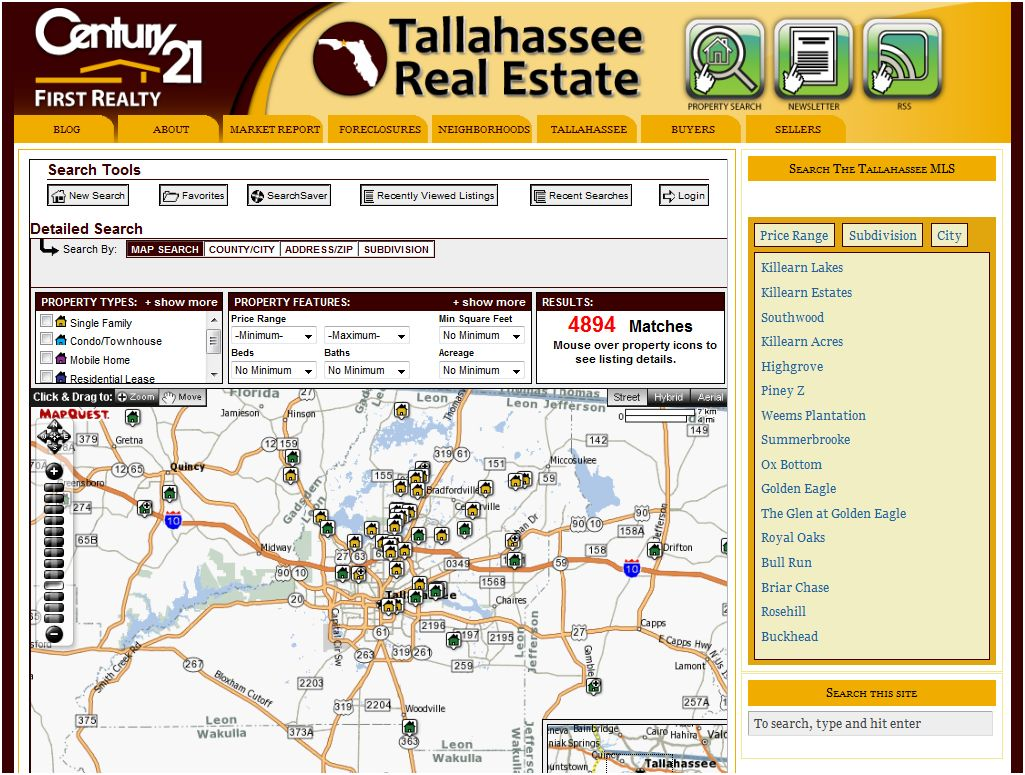 Search For Homes in Tallahassee With Fast MLS Search Tool