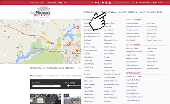 Search Tallahassee Homes By Area
