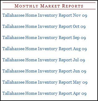Tallahassee Home Inventory Report Available For Download