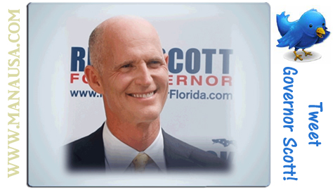 Twitter Florida Governor Scott Image
