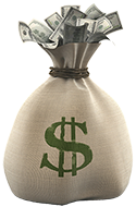 a bag of money in the process of buying a home