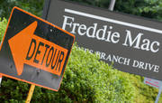 Fannie Mae and Freddie Mac Conservatorship Detour Sign Picture